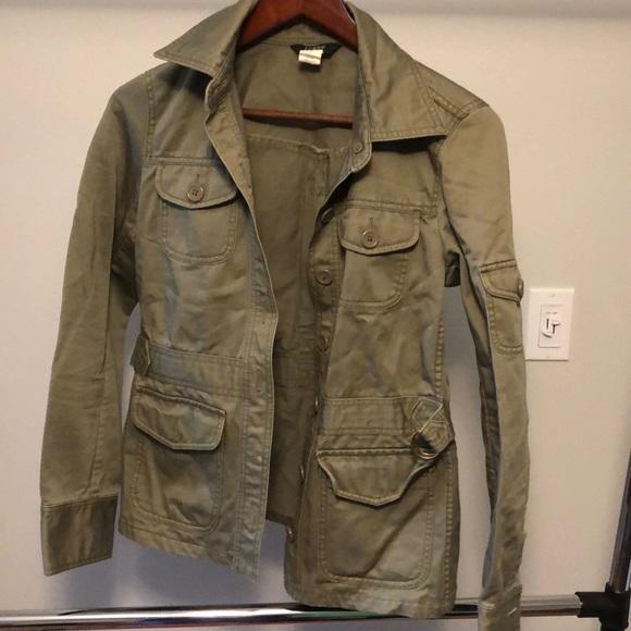 J. Crew Jackets & Blazers - Jcrew olive green utility jacket